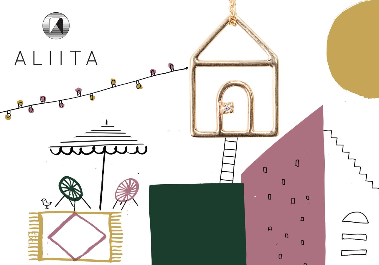 Silvia Gherra's ilustration casita brillante
